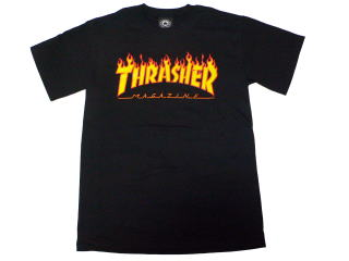 THRASHER FLAME LOGO T-SHIRTS